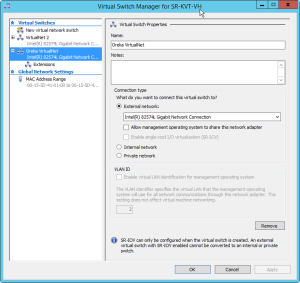 Hyper-V Virtual Switch Manager