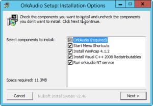OrkAudio setup  Install