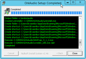 OrkAudio setup complete