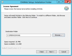 OrkWeb install