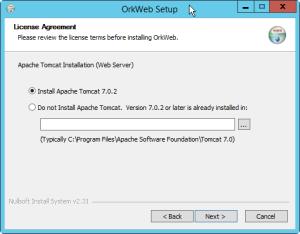 OrkWeb install Apach Tomcat