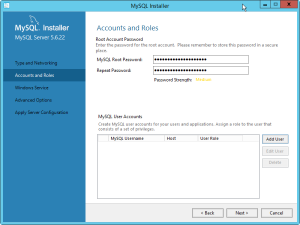 Install Mysql root pass